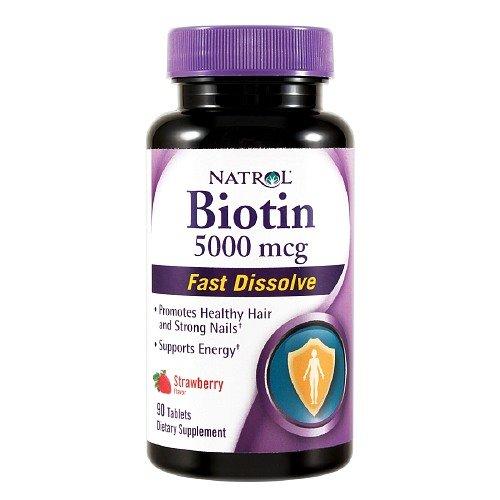 Natrol Biotin 5000 mcg Fast Dissolve Tablets - 90 per pack - 1 each. - Mcg Fast Dissolve Tablets
