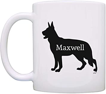 Amazon Com Personalized Dog Owner Gift German Shepherd Add Dog S Name Dog Lover Gift Coffee Mug Tea Cup White Kitchen Dining