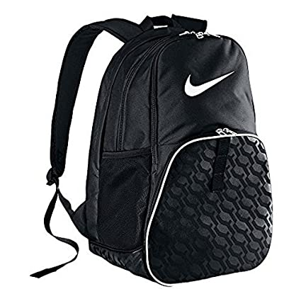 Amazon.com  The Nike Brasilia 6 XL Backpack Black Black White Size ... cc8dc5c6163f