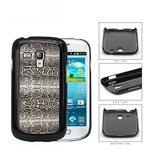 Taupe Snake Skin Print Design Hard Plastic Snap On Cell Phone Case Samsung Galaxy S3 SIII Mini I8200