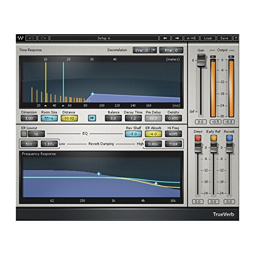 Waves TrueVerb | Graphic Interface Reverb Plugin Software Download Only (Best Waves Reverb Plugin)