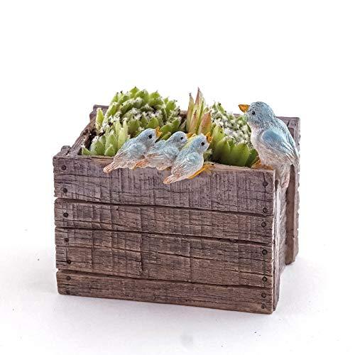 (ShopForAllYou Figurines and Statues Fairy Garden Mini - Bird Family - Succulent and Tillandsia Planter)