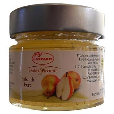 110g Mostaza de pera Salsa Salsa di Pere mostaza Lazzaris: Amazon.es: Alimentación y bebidas