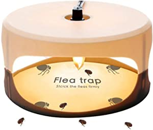 ZZC Flea Trap with 2 Blue Discs Simple Installation Trap Killer Best Pest Control for Home (Flea Trap)