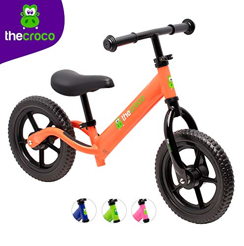 TheCroco Lightweight Balance Bike for Toddlers and Kids (Orange)