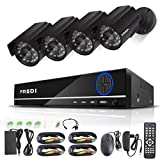 FREDI 8CH Security Camera System Full 960H DVR with 4x 800TVL Superior Night Vision IR Cut Leds indoor/outdoor...