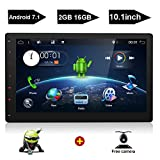10.1″ HD Big Screen Double Din Android 7.1 Quad Core CPU Car Radio Navigation Receiver bt Stereo GPS RDS WiFi DAB OBD SWC Mirror-Link Multimedia + Free Camera as Gift