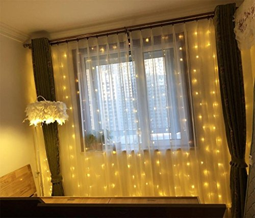 Amars Bedroom Curtain Lights Warm White 8 Modes Window