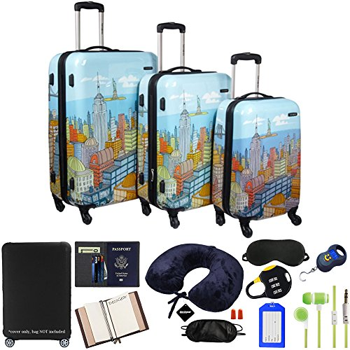 Samsonite CityScapes NYC 3-Piece Premium Spinner Set with Luggage Accessory Kit