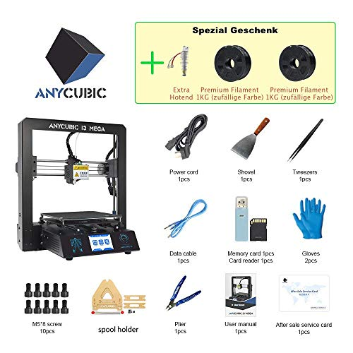 Anycubic i3 Mega 3D Printer Intelligent Leveling with 3 5