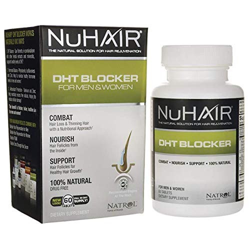 NuHair DHT Blocker Hair Regrowth Support Tablets for Men and Women - 60 Ea