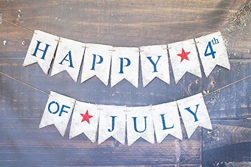 - Swanky Party Box Happy 4th of July Decorations, July 4th Banner, July 4th Decor, Patriotic Bunting, 4th of July Party, Independence Day Decorations B424