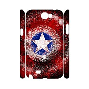 YUAHS(TM) DIY 3D Phone Case for Samsung Galaxy Note 2 N7100 with Captain America YAS129721