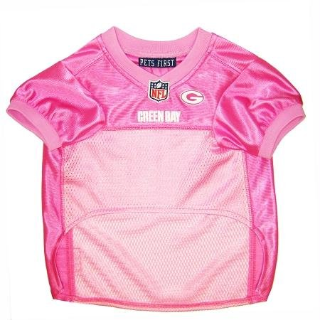 Pets First NFL Green Bay Packers Pet Jersey, X-Small, pink