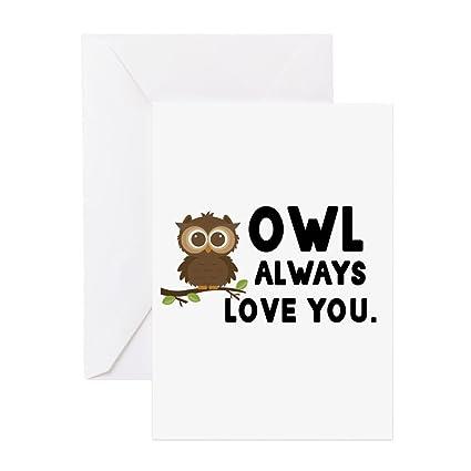 Amazon cafepress owl always love you greeting cards cafepress owl always love you greeting cards greeting card note card birthday m4hsunfo