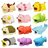 Cable Bites 12 Pack Cable Bites Animals Protector for iPhone Charging Cable Cable Buddies Dog Penguin Axolotl Pig Dragon Hippo Phone Accessories by FUNZON