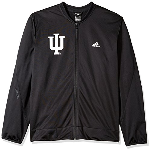 adidas NCAA Indiana Hoosiers Mens On Court Warm-Up Jacketon Court Warm-Up Jacket, Black, ()