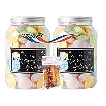 2 x french powder flying saucers in jar 160 gr-bocal de soucoupes volantes poudre LES GOURMANDISES DE SOPHIE + 1 bag of madeleines Théodore Bardin-Cuinet