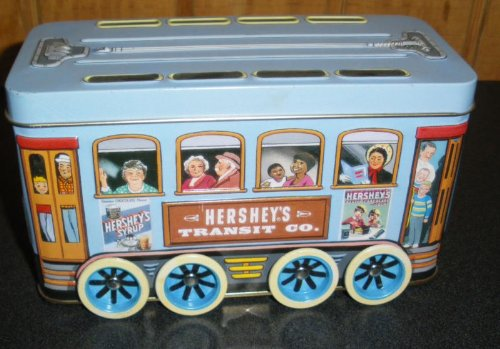 Hershey's Vehicles Series Canister #2 Transit Co. Trolley 2000