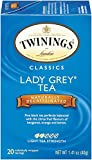 Twinings Decaf Black Tea, Lady Grey, 20 Count (Pack of 6),packaging may vary