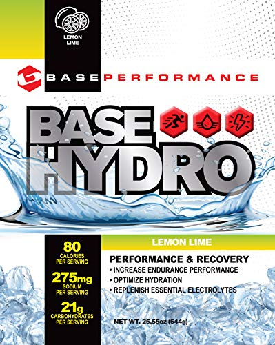 BASE Performance Hydro – Lemon Lime 28 servings within each eco-friendly mylar bag Blend of dextrose, fructose, maltodextrin and essential electrolytes.