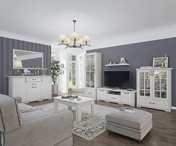 Wohnzimmer Komplett - Set C Falefa, 7-teilig, Farbe: Weiß: Amazon.de ...