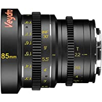 Veydra V1-85T22SONYEI Mini Prime 85mm T2.2 Sony E Imperial Cinema Lens with Manual Focus, Black