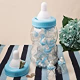 Giant Blue Baby Bottle Bank With 16 Small Bottle Favors by Fashioncraft