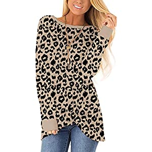 MarinaPrime Womens Waffle Knit/Cotton Blend Twist Knot Pullover Tops Loose Fitting Plain Shirts