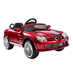 Mercedes-Benz 722S Kids 12V Electric Ride On Toy Car w/ Parent Remote Control - Red by Aosom