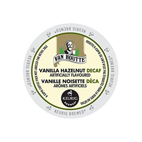 (Van Houtte Vanilla Hazelnut Decaffeinated Coffee, 24-Count K-Cups for Keurig Brewers (Pack of 2))