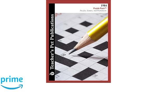 1984 Puzzle Pack - Teacher Lesson Plans, Activities, Crossword ...