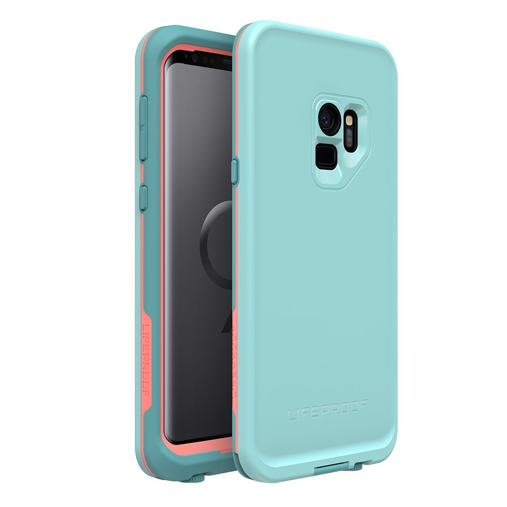 Lifeproof FRE Series Waterproof Case for Samsung Galaxy S9 - Retail Packaging - Wipeout (Blue Tint/Fusion Coral/Mandalay Bay)