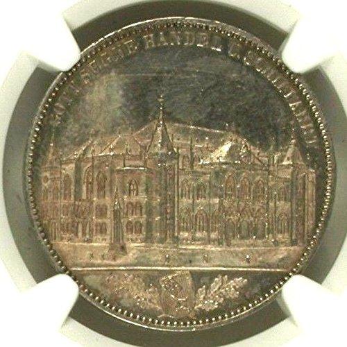 1864 DE German States Bremen 1864 Silver Taler Opening Ne coin MS 61 NGC