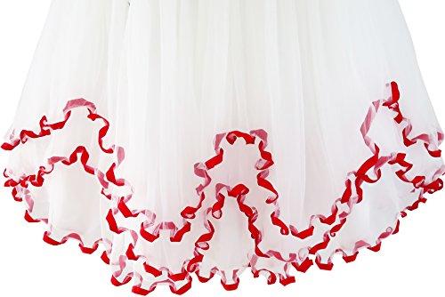 Rosso Scintillante Paillettes 10 D'onore Fiore Vestito Di Vestito Damigella Del Formato Ragazze Di Nozze 4 Di Anni qFtXwOxO
