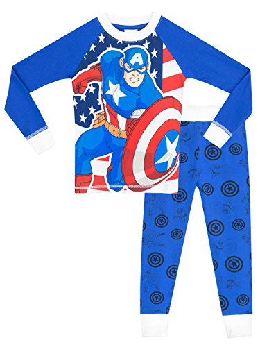 Marvel Captain America Boys' Captain America Pajamas Size 5