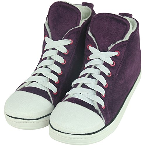 Home Slipper Womens Warm Winter Plush Indoor House Outdoor Sneaker Slippers Boots Purple VdU9jPNY