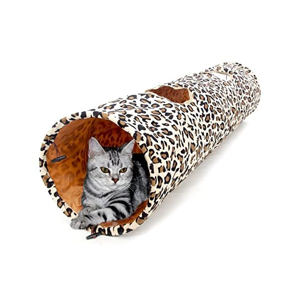 "PAWZ Road Cat Toys Collapsible Tunnel Dog Tube for Fat Cat,Rabbits,Dogs Length 51"" Diameter 12"" 1"
