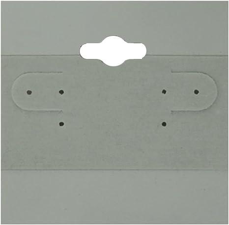 100 Plastic Earring Hanging Card 2X2 Grey
