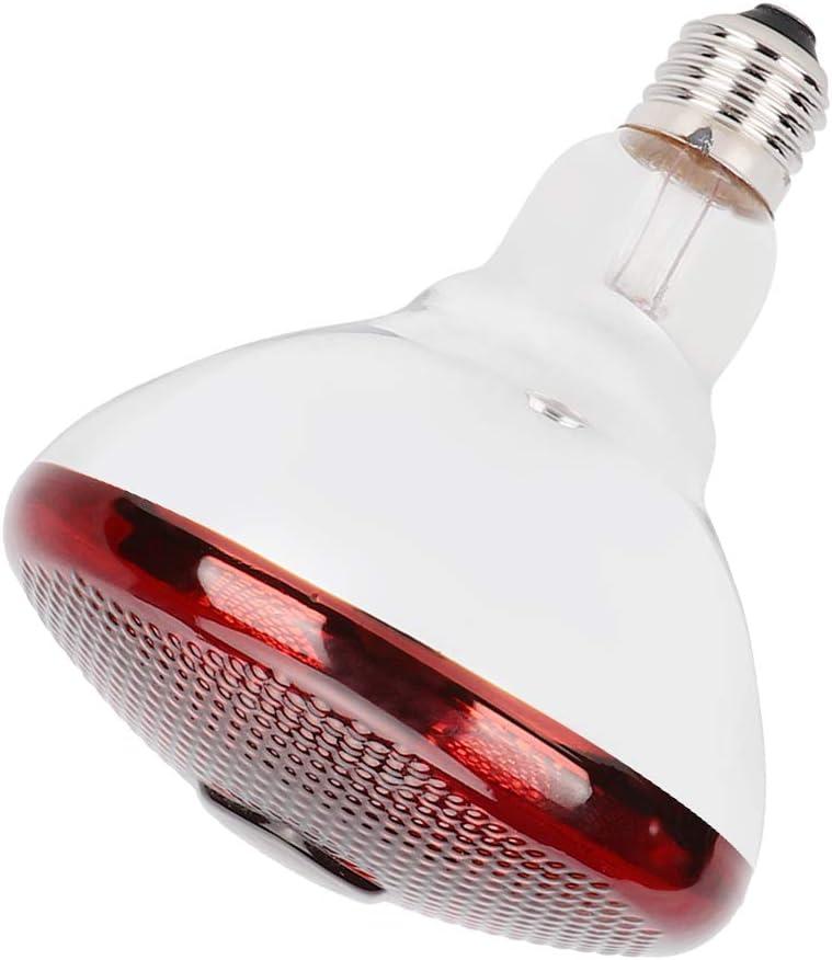 L/ámpara de Calor infrarroja Duradera Bombilla de luz para Calentar Luz roja para Mascotas Bombilla de calefacci/ón para Reptiles L/ámpara de calefacci/ón Nocturna de luz roja para Reptiles