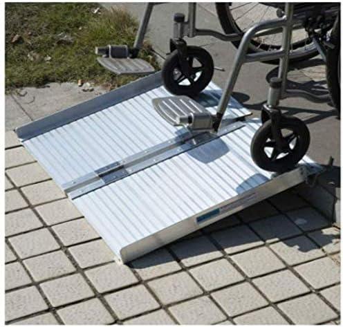 2 Folding Portable Mobility Loading Wheelchair Threshold Ramp Handicap