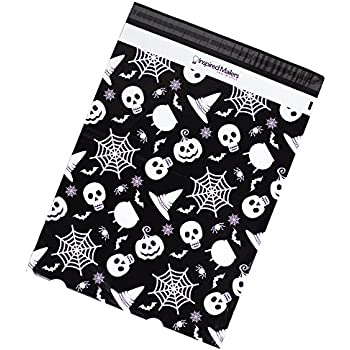 Poly Mailers 14.5x19 – Spooky Halloween Print – Premium Unpadded Shipping Envelopes - Pack of 50