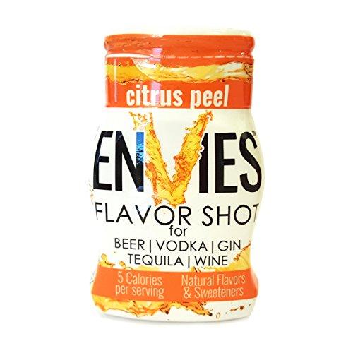 Envies Flavor Shot Citrus Peel Squeeze Mini Bottle Cocktail Mixer