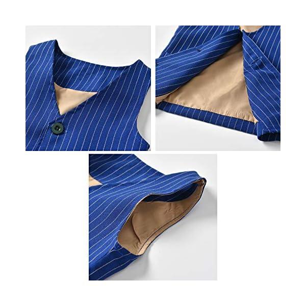 Zoerea 3 Pezzi Bambini Ragazzi Abbigliamento Set Camicia con Papillon+Gilet+Pantaloni, Bambino Ragazzo Gentleman Nozze… 3