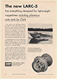 1960 Army LARC-5 Amphibious Vehicle Clark Equipment Planetary Axle Ends Print Ad (66046)