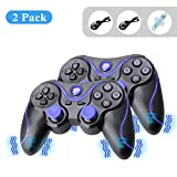 A-szcxtop 1 Pair Wireless Dualshock Bluetooth Game Controller Rechargeable Gamepad with USB Charging Cable for PS3 Playstation 3