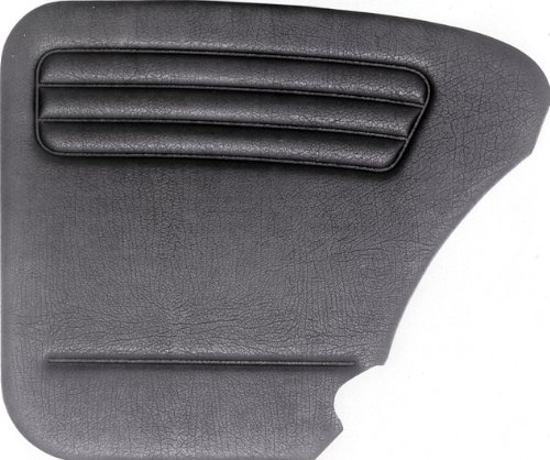 (Empi 00-4854-0 VW Bug, Beetle, 4-Piece Universal Door Panel Kit, Type 1, 65-77, Black (Exc.)