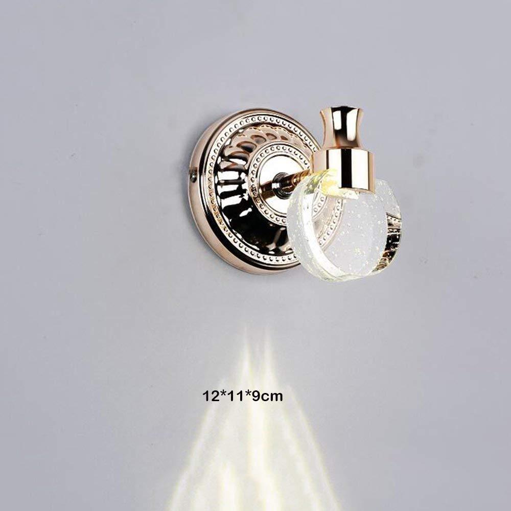 Fenciayao シンプルなLEDのモダンなバスルーム霧ランプウォールキャビネット化粧品ミラーの防水クリスタルバスルームライトプロジェクターのミラーミラーは、ミラープロジェクターを構成する (Color : Warm Light-1)  Warm Light-1 B07RHNQSS7