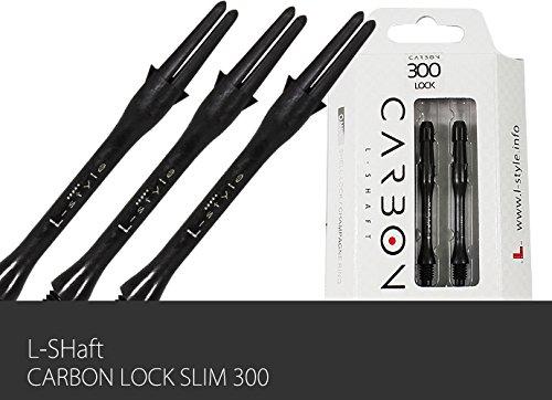 L-style L-shaft Locked Slim Carbon Black 300 Dart Shaft Set of 3
