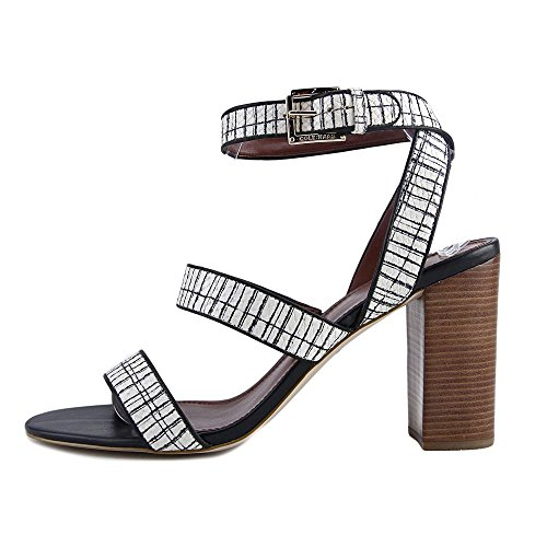 Cole white Slingback Womens Haan print Sandals Sandal Toe Casual Delilah black Open rv4q6fxrw